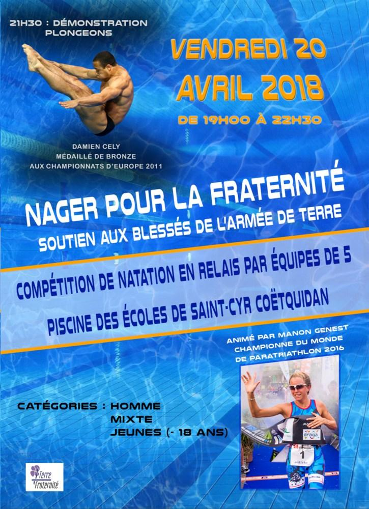 affiche competition natation